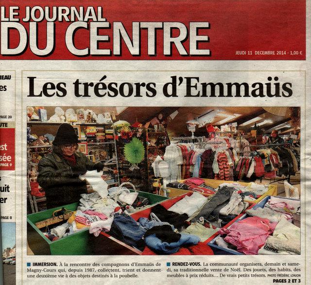 Vente De Noël à Magny Cours Emmaüs Nièvre