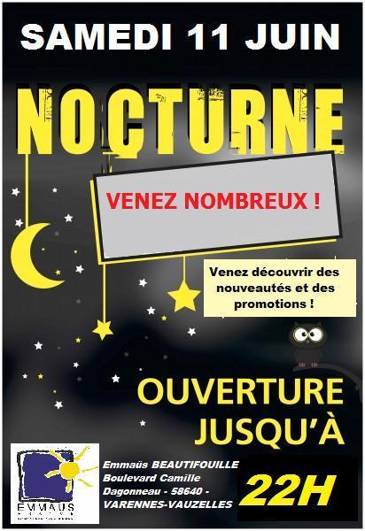 11 Juin 2016 Grande Première Vente Nocturne Emmaüs Nièvre