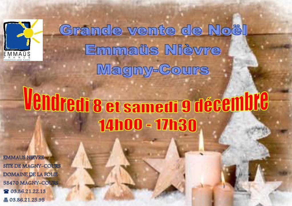 8 9 Décembre 2017 Vente De Noël à Magny Cours Emmaüs Nièvre