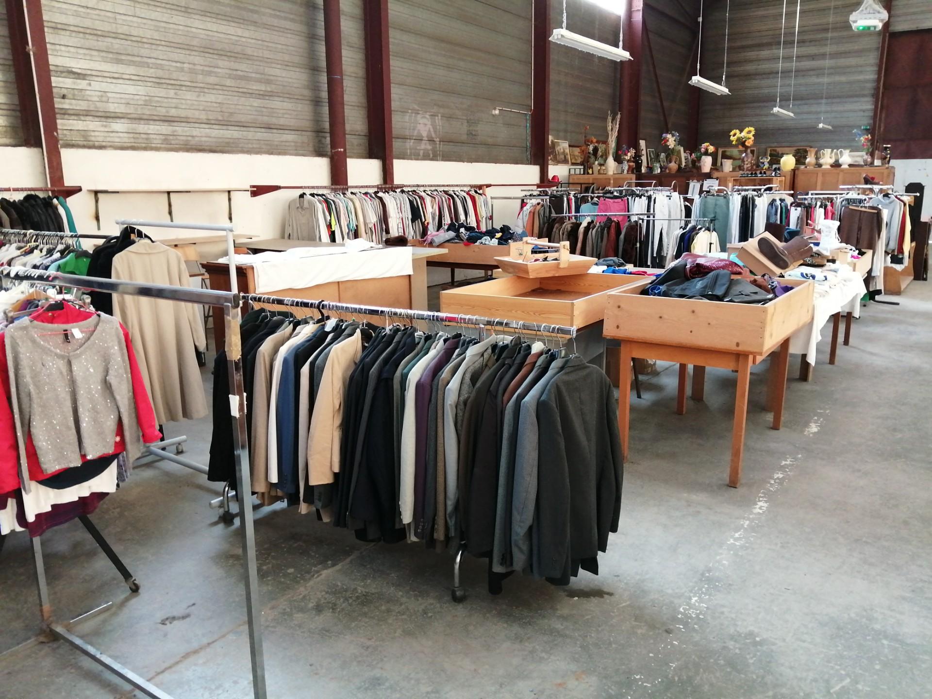 Nouvelle disposition du rayon vêtements